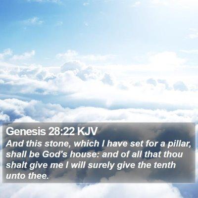 Genesis 28:22 KJV Bible Verse Image
