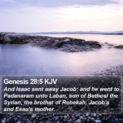 Genesis 28:5 KJV Bible Verse Image