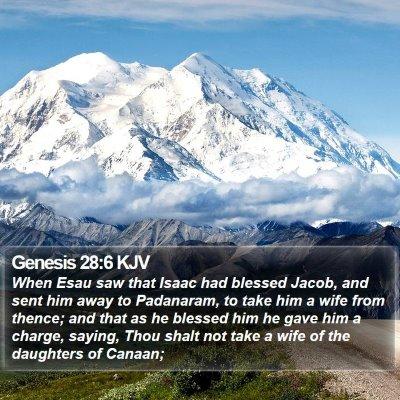 Genesis 28:6 KJV Bible Verse Image