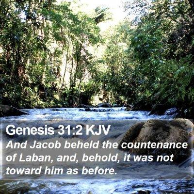Genesis 31:2 KJV Bible Verse Image