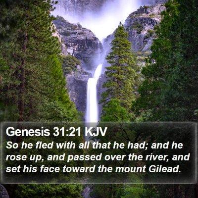Genesis 31:21 KJV Bible Verse Image