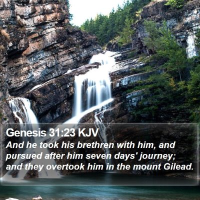 Genesis 31:23 KJV Bible Verse Image