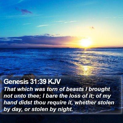 Genesis 31:39 KJV Bible Verse Image