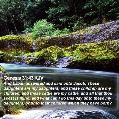 Genesis 31:43 KJV Bible Verse Image