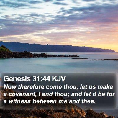 Genesis 31:44 KJV Bible Verse Image