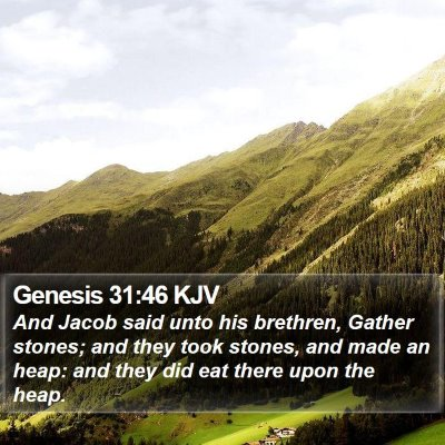 Genesis 31:46 KJV Bible Verse Image