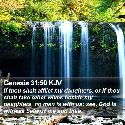 Genesis 31:50 KJV Bible Verse Image