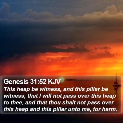 Genesis 31:52 KJV Bible Verse Image
