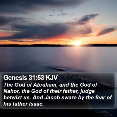 Genesis 31:53 KJV Bible Verse Image