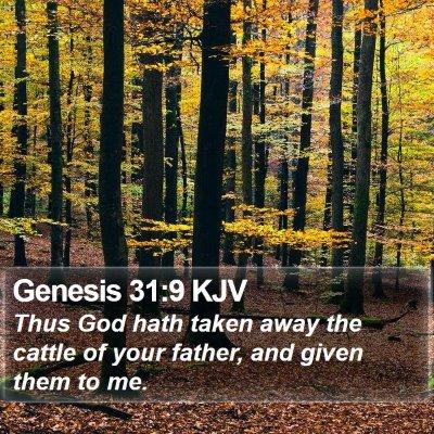 Genesis 31:9 KJV Bible Verse Image