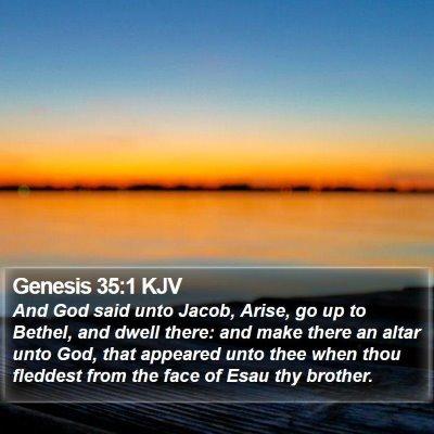 Genesis 35:1 KJV Bible Verse Image