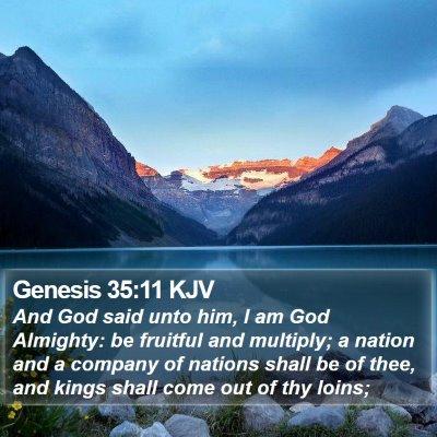Genesis 35:11 KJV Bible Verse Image