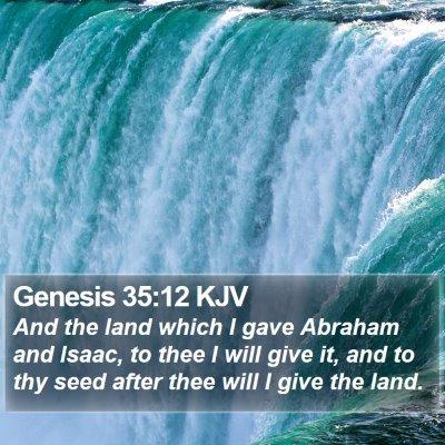 Genesis 35:12 KJV Bible Verse Image