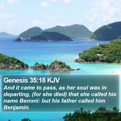 Genesis 35:18 KJV Bible Verse Image