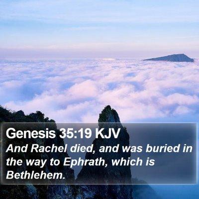 Genesis 35:19 KJV Bible Verse Image