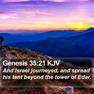 Genesis 35:21 KJV Bible Verse Image