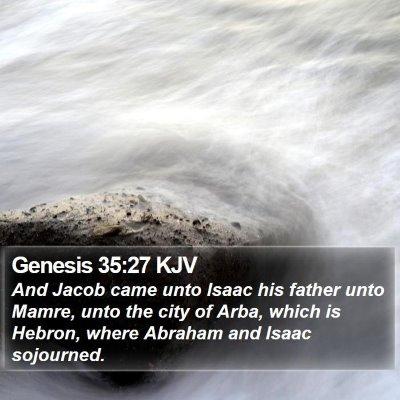Genesis 35:27 KJV Bible Verse Image