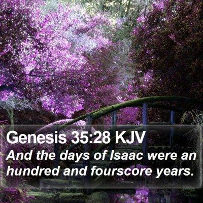 Genesis 35:28 KJV Bible Verse Image