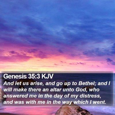 Genesis 35:3 KJV Bible Verse Image