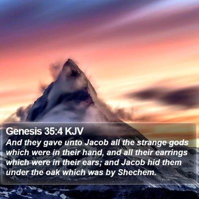 Genesis 35:4 KJV Bible Verse Image