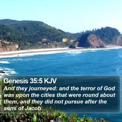 Genesis 35:5 KJV Bible Verse Image