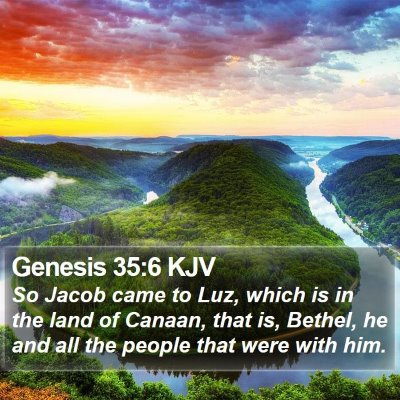 Genesis 35:6 KJV Bible Verse Image