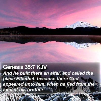 Genesis 35:7 KJV Bible Verse Image