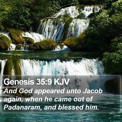 Genesis 35:9 KJV Bible Verse Image