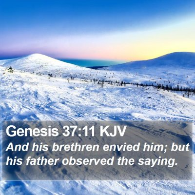 Genesis 37:11 KJV Bible Verse Image