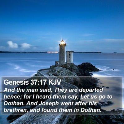 Genesis 37:17 KJV Bible Verse Image