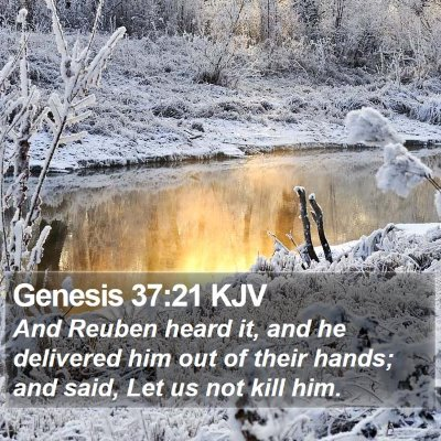 Genesis 37:21 KJV Bible Verse Image