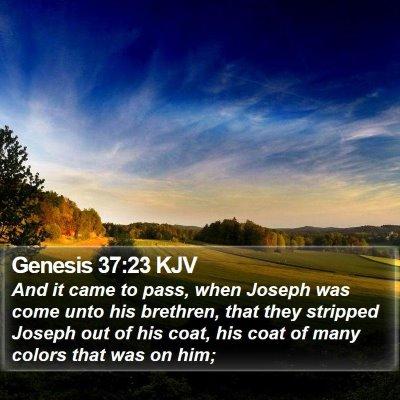 Genesis 37:23 KJV Bible Verse Image
