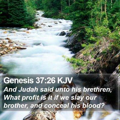 Genesis 37:26 KJV Bible Verse Image