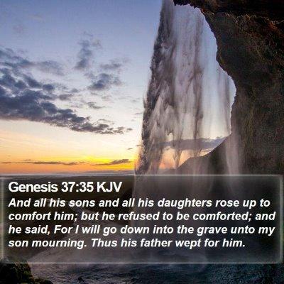 Genesis 37:35 KJV Bible Verse Image