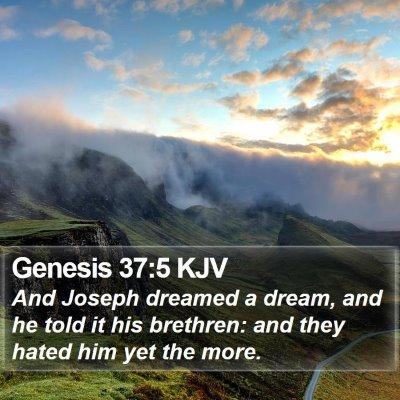 Genesis 37:5 KJV Bible Verse Image