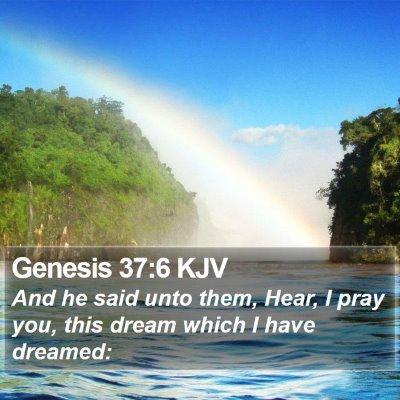 Genesis 37:6 KJV Bible Verse Image