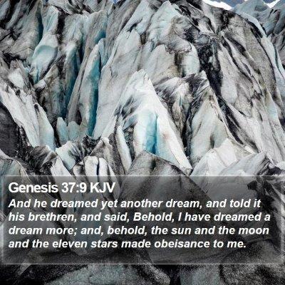 Genesis 37:9 KJV Bible Verse Image