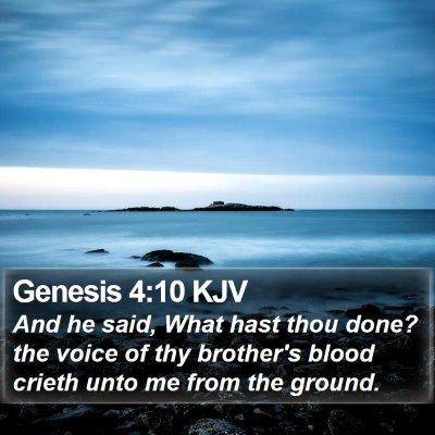 Genesis 4:10 KJV Bible Verse Image