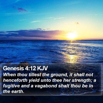 Genesis 4:12 KJV Bible Verse Image