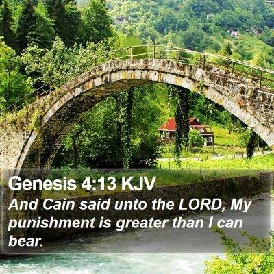 Genesis 4:13 KJV Bible Verse Image
