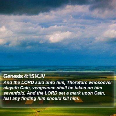 Genesis 4:15 KJV Bible Verse Image