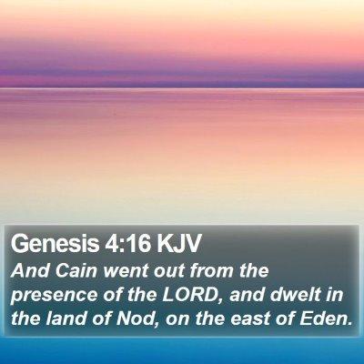 Genesis 4:16 KJV Bible Verse Image