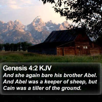 Genesis 4:2 KJV Bible Verse Image