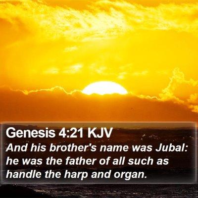 Genesis 4:21 KJV Bible Verse Image