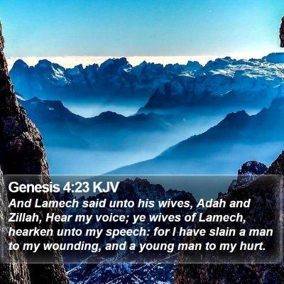 Genesis 4:23 KJV Bible Verse Image