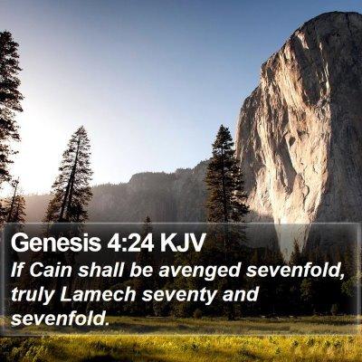 Genesis 4:24 KJV Bible Verse Image