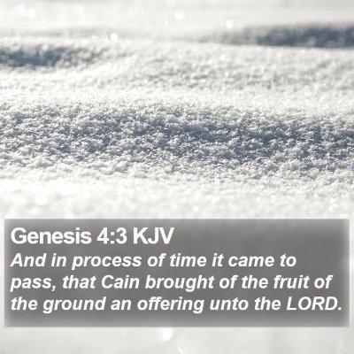 Genesis 4:3 KJV Bible Verse Image