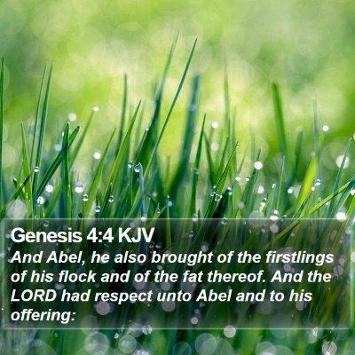 Genesis 4:4 KJV Bible Verse Image