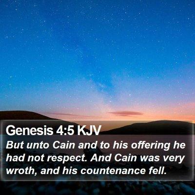 Genesis 4:5 KJV Bible Verse Image