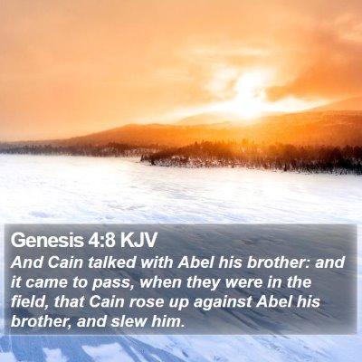 Genesis 4:8 KJV Bible Verse Image